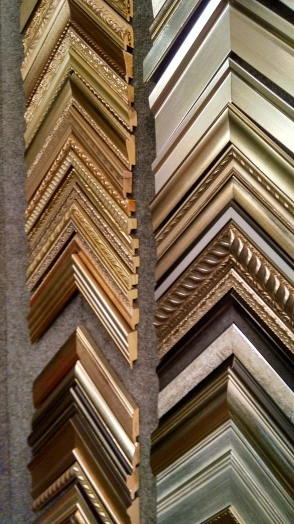 Daphne's Custom Faming- Silver and gold frame samples