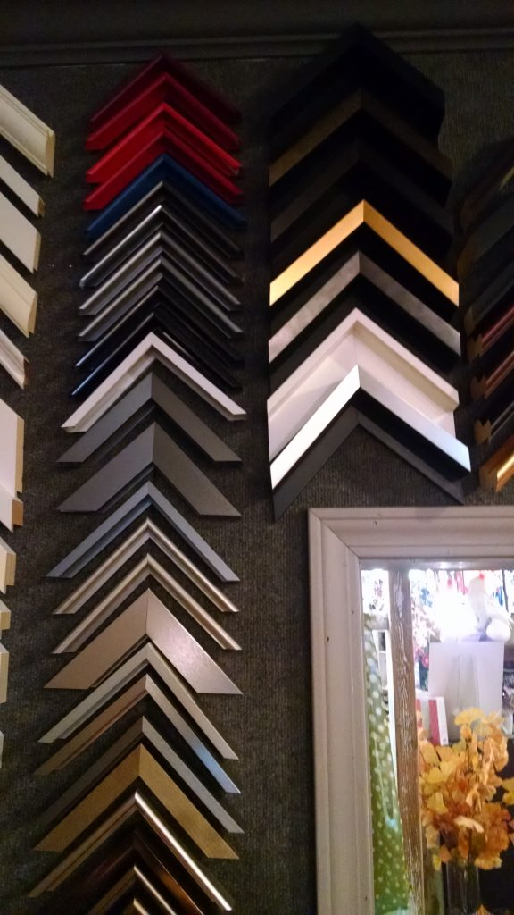 Daphne's Custom Framing- Metal frame samples