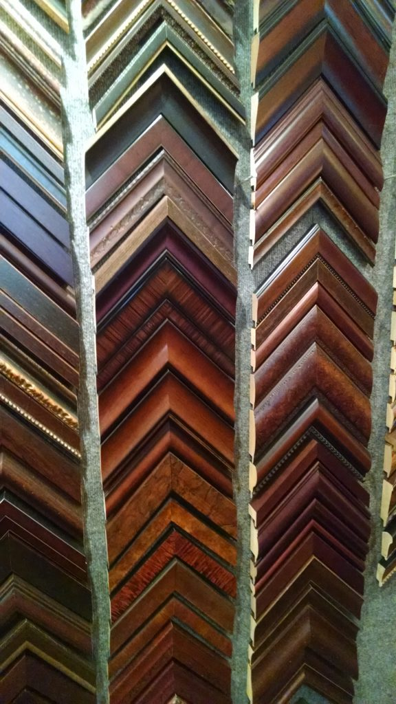 Daphne's Custom Framing- Dark wood tone frame samples
