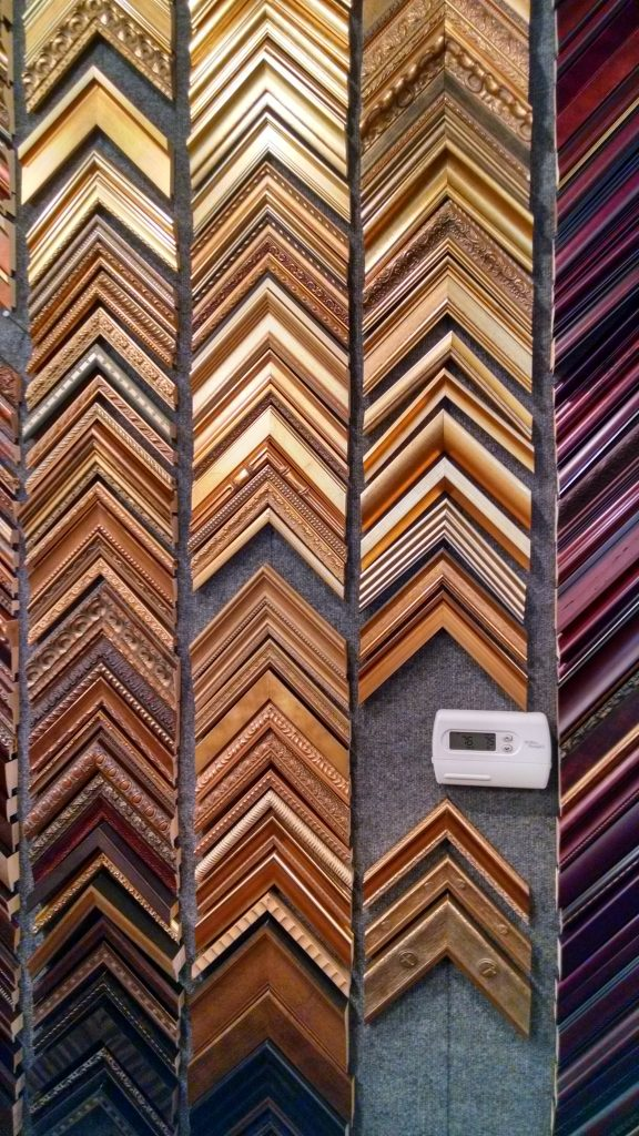 Daphne's Custom Framing- Light wood tone frame samples